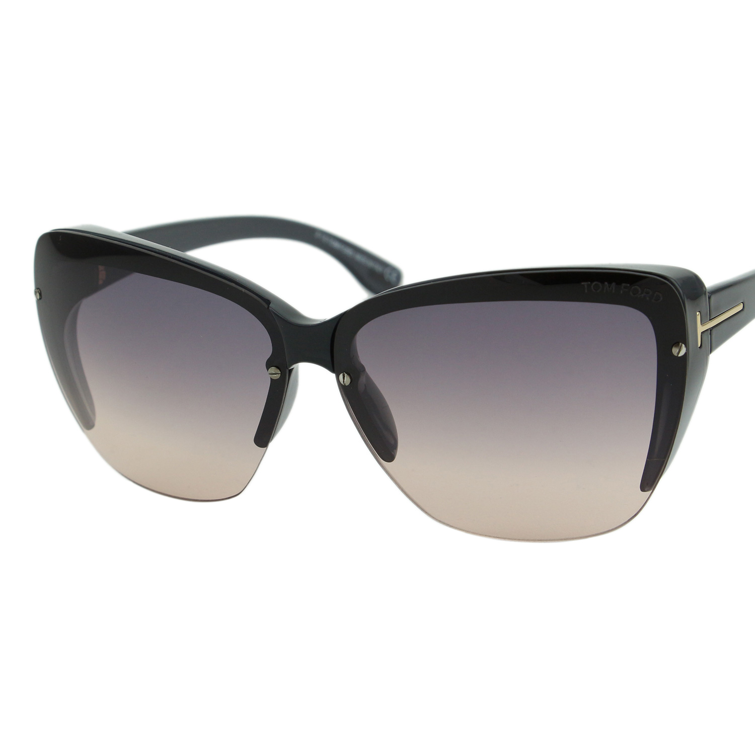 d6a95679304512 Tom Ford FT0457 pavot femmes gris   Violet Gradient Squared lunettes Cat-Eye