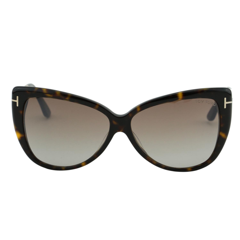 c6a21a6d07 Tom Ford Reveka FT0512 Women Havana   Titanium Gold T Logo Butterfly  Sunglasses