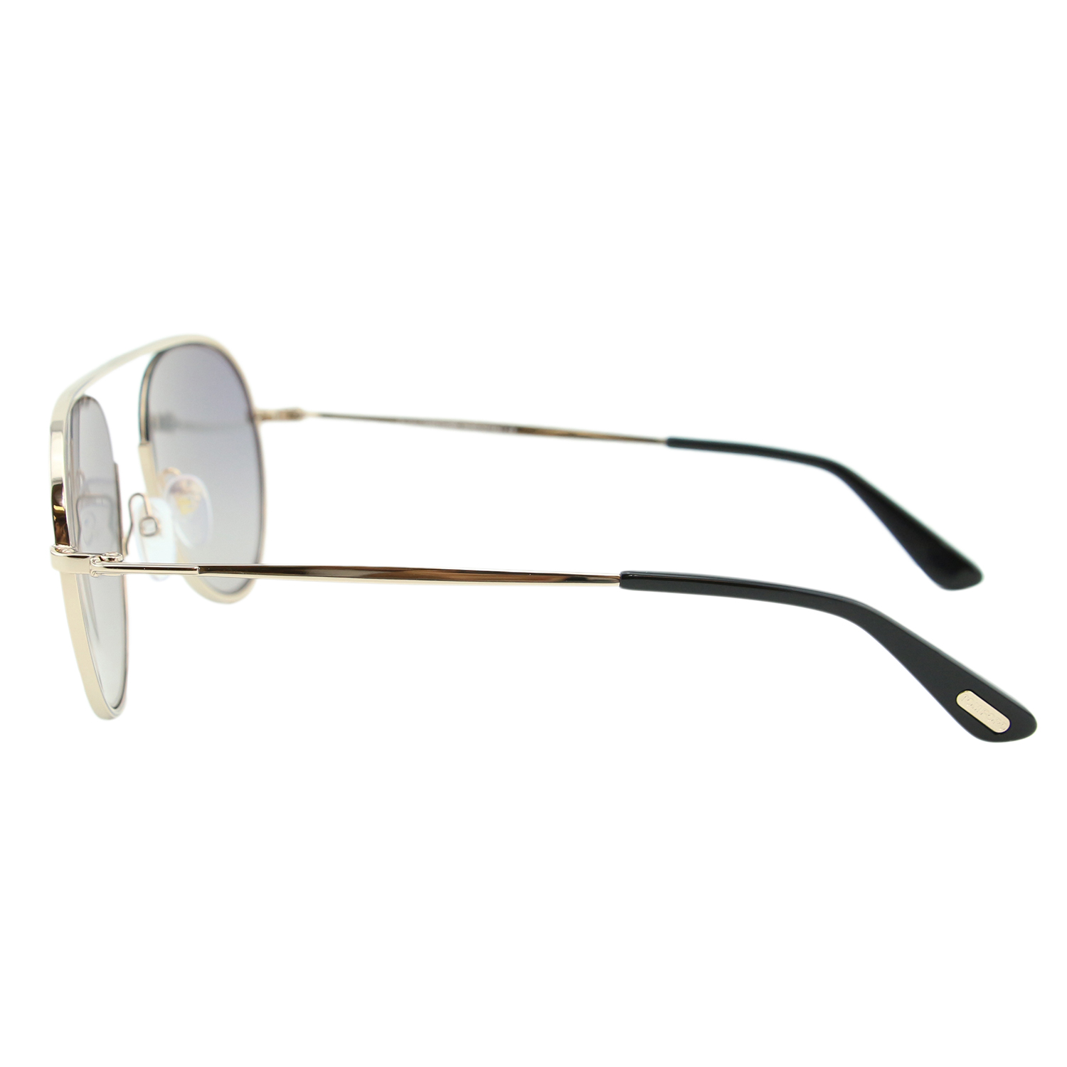 7447240a80 Tom Ford Keith-02 TF-599 28C Men Gold Round Cut-Out   Brow-Bar Flash  Sunglasses