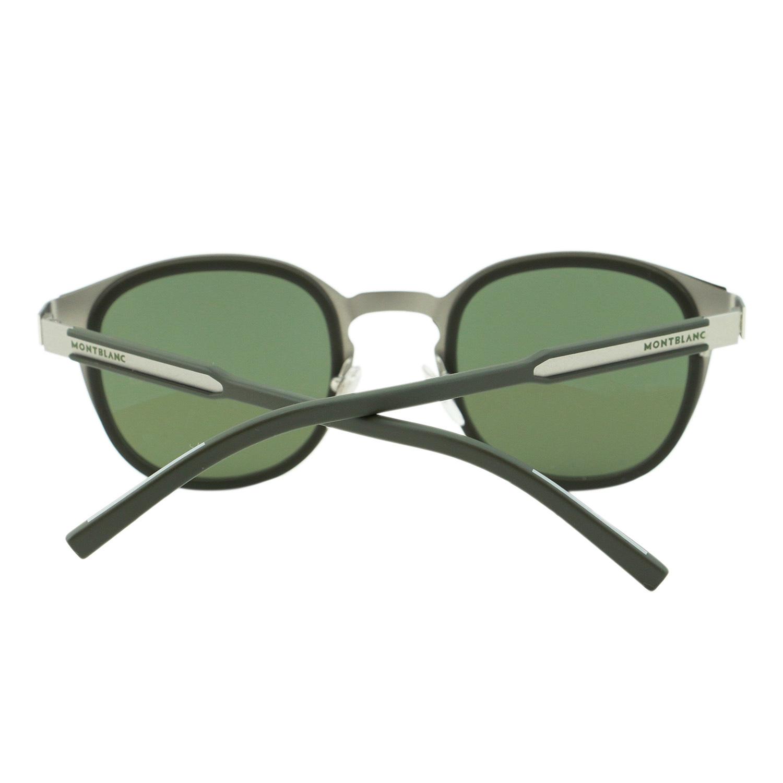 a41d8c7d6c0afa MONTBLANC Signature MB590 97Q rond vert foncé Pantos   Flash lentilles  lunettes de soleil